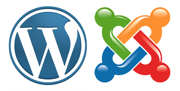 Wordpress and Joomla both compete to be the world's favourite CMS